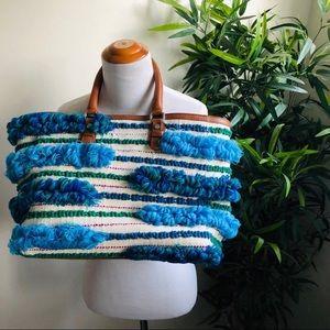 Sam Edelman Blue Gina Vacation Beach Bag